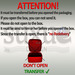 Attention''' very important!!! please absolutely read this!!!