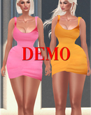 SUMMER. Mini Satin Dress [DEMO] ::Kloss::