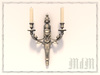 Louis XVI sconce - Silver plated brass