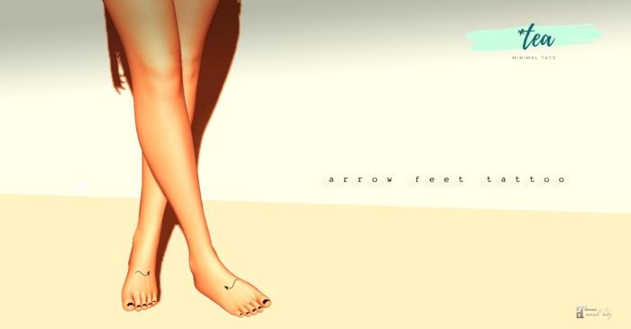 *Tea Arrow Feet tattoo