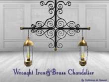 """CdT"" Wrought Iron&Brass Chandelier"