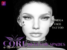 CORE QUEEN OF SPADES OMEGA FACE TATTOO