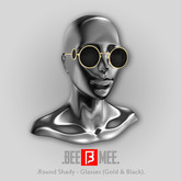 .BEEMEE. Round Shady Glasses (Gold & Black)