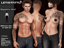 Letis Tattoo :: Sapphire Wolf :: For Signature, Legacy, Slink and Belleza* Bodies