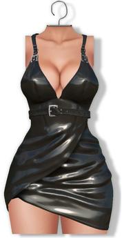 [[ Masoom ]] Phoebe Dress Black ( Legacy,Lara,Freya,Hourglass) 2 in 1