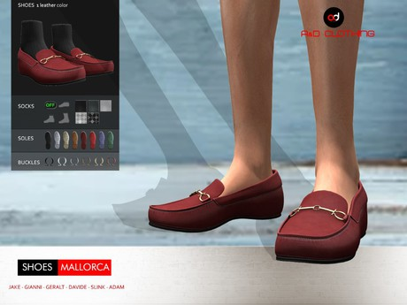 A&D Clothing - Shoes -Mallorca- Maroon
