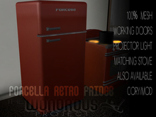 Forcella Retro Fridge Red