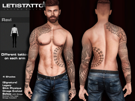 Letis Tattoo :: Ravi :: For Signature, Legacy, Slink and Belleza* Bodies