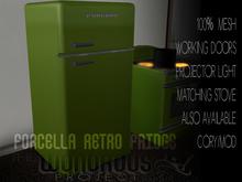 Forcella Retro Fridge Green