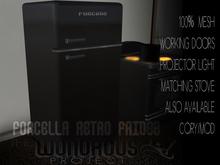 Forcella Retro Fridge Black