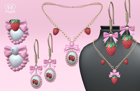 Bowtique - Strawberry Shortcake Jewelry Set