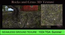 Vita's Textures - ROCKS AND GRASS GROUND 3D 1024 Seamless