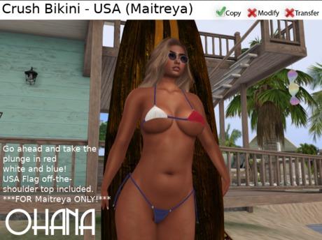 Ohana Crush Bikini USA - Maitreya ONLY