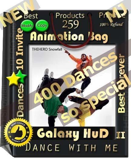 Dance with me Galaxy II HUD 2019 400 dances/Mocap