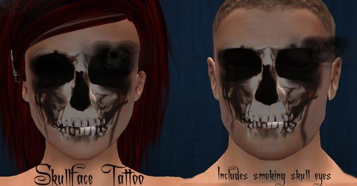 !<3NO*Thing! SKULLFACE Tattoo and skull smoke eyes