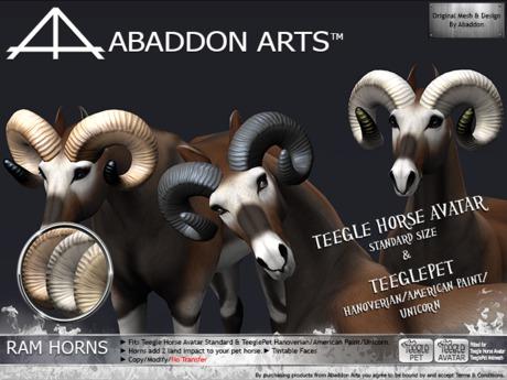ABADDON ARTS - THAV/PET - Ram Horns Naturals I