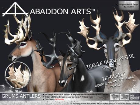 ABADDON ARTS - THAV/PET - Grums Antlers Naturals I