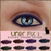 .:Glamorize:.Liner Fix 1 - 8 colors of Eyeliner