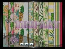 {TripArt} Burlap Tropical Fabrics