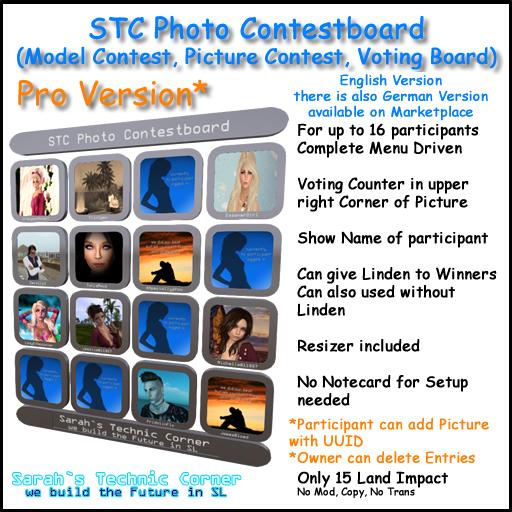 STC Photo, Model, Picture Contest Voting Board PRO (English Version)