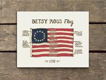 USA 1776 Betsy Ross Flag