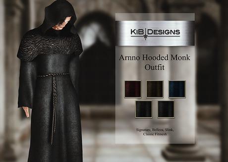 "KiB Designs - Arnno Hooded Monk Outfit Unpacker Box ""Wear"""