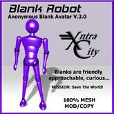 Blank Robot Avatar V.3.0 - Purple
