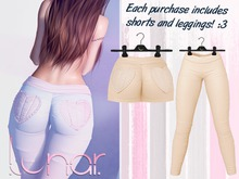 Lunar - Nini Shorts & Leggings - Beige (Boxed)