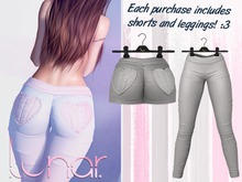 Lunar - Nini Shorts & Leggings - Grey