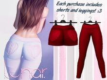 Lunar - Nini Shorts & Leggings - Crimson Red