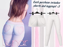 Lunar - Nini Shorts & Leggings - White