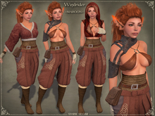 Windrider * MAROON * Outfit byCaverna Obscura