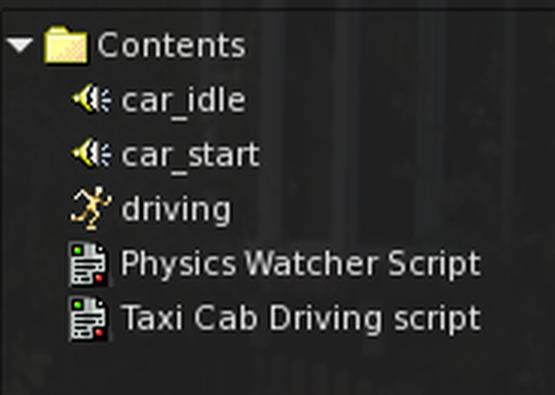 Car Driving Script-sound & Sound