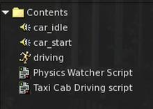 Car Driving Script-sound & Sound