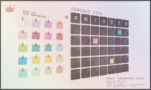 paper.crowns - wall calendar 2020