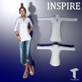 INSPIRE Button Shirt White [Tweenster]