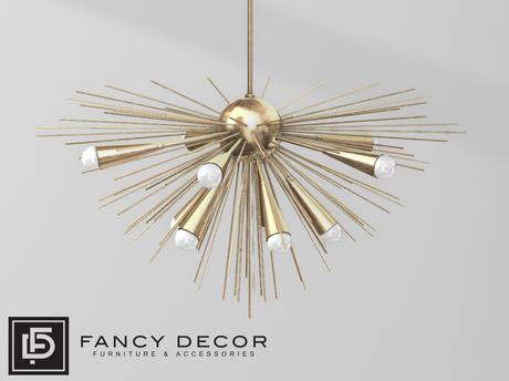 Fancy Decor: Solis Chandelier (gold)