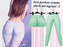 Lunar - Nini Shorts & Leggings - Spectra Green  (Boxed)