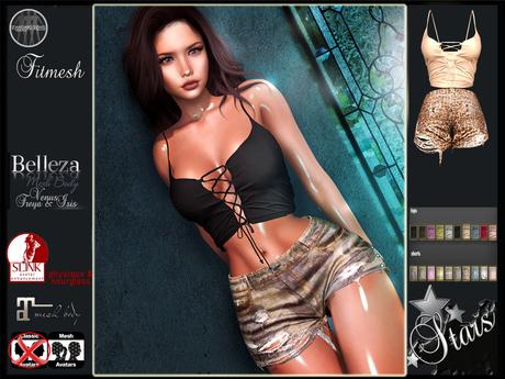 PROMO Stars - Maitreya, Belleza, Slink - Cherish top & shorts
