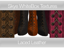Laced Leather -  Skye WhiteBox Full Perms Textures