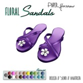 Paper.Sparrow - Violet Flower Sandals