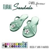 Paper.Sparrow - Mint Flower Sandals  (ADD ME)