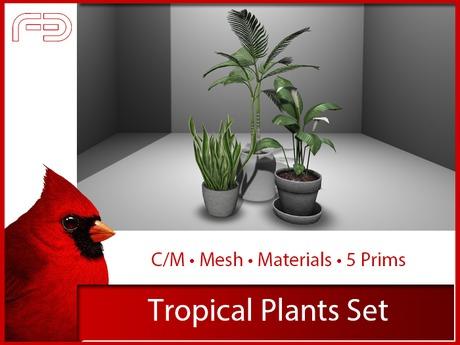 [FB] Tropical Plants Set