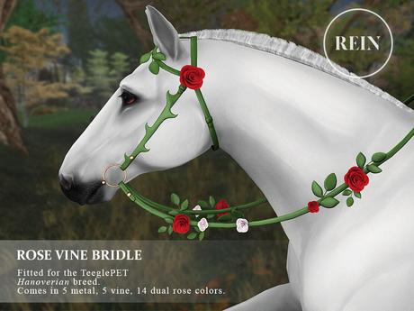 REIN - TeeglePet Rose Vine Bridle HANOVERIAN
