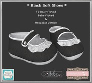 *CC* TD B/Bebe/Unrigged Soft Baby Shoes *Black* (WEAR)