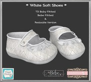 *CC*TD B/Bebe/Unrigged Soft Baby Shoes *White* (WEAR)