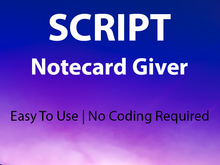 Notecard Giver Script