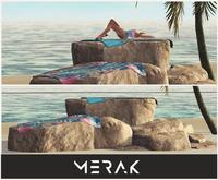 [Merak] - Summer Beach Rocks (w/towels)