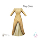 [ity.] China // Naga Dress Gold