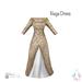 [ity.] China // Naga Dress White/Gold
